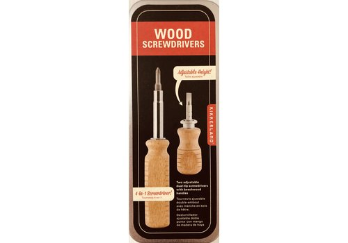 Screwdriver Set - Wood in Tin