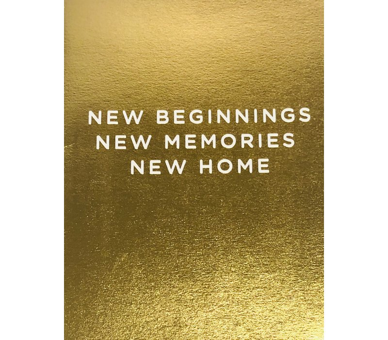 Card - New Home - New Beginnings
