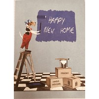 Card - Happy New Home - Dog/Ladder