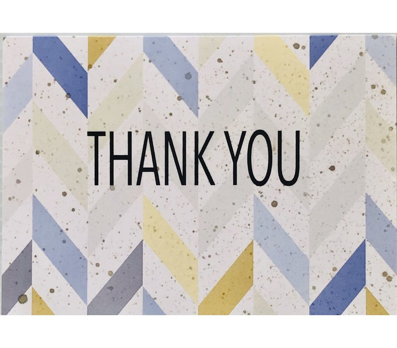 Cards - Thank You - Angled Stripes