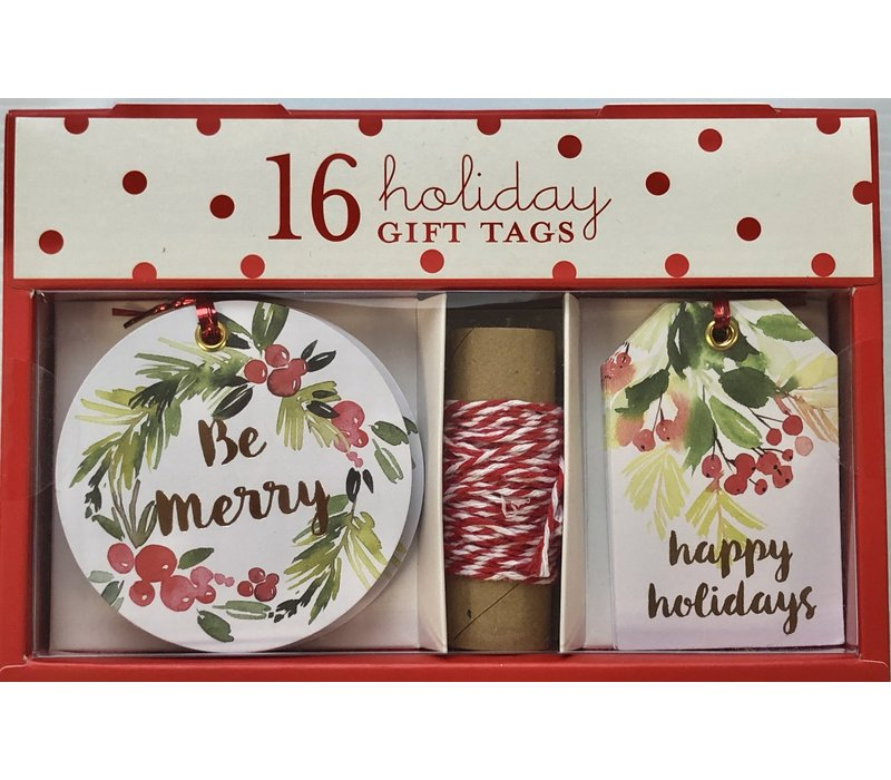 Gift Tag Set - Watercolor Berries