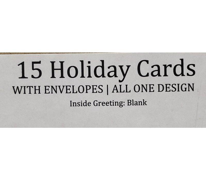Cards - Holiday - Petite - Watercolor Santa