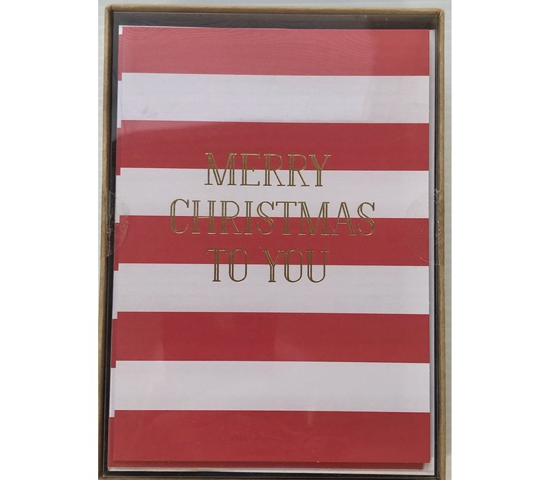 Cards - Holiday - Classic Striped