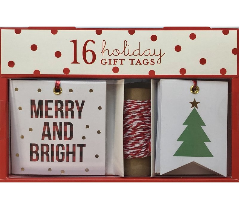 Gift Tag Set - Merry & Bright Plaid