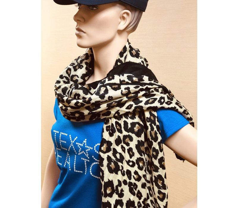 Scarf - Ecru Deb - Leopard