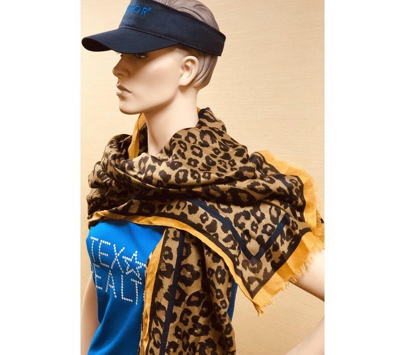Scarf - Camel Deb - Leopard