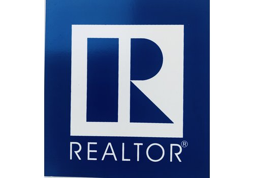 Realtor R Magnet - Square - Blue
