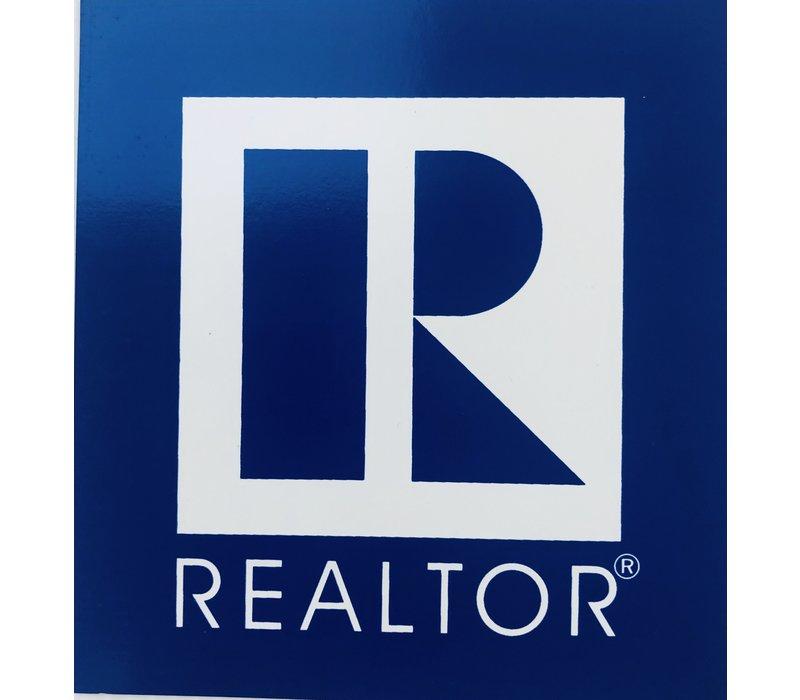 Realtor R Magnet - Square - Blue