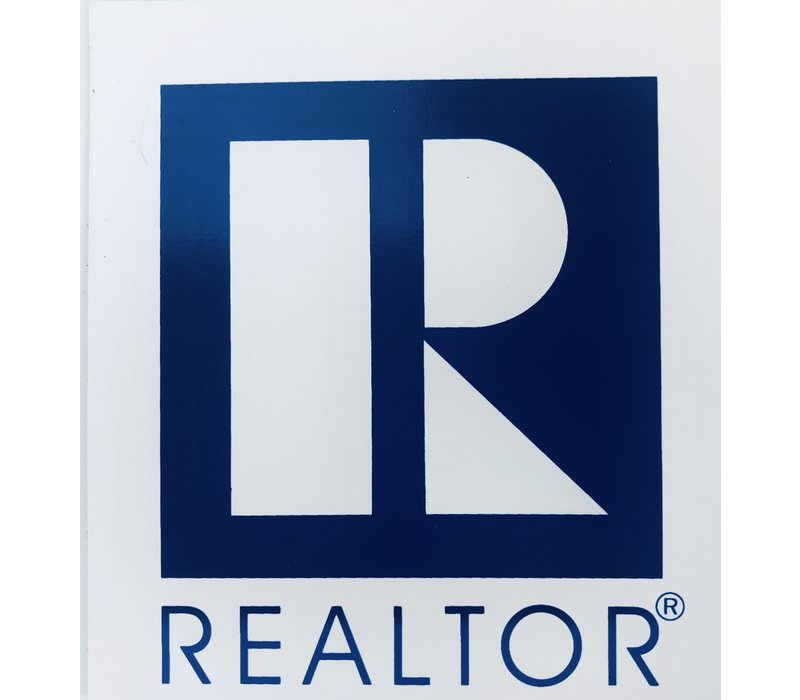 Realtor R Magnet - Square - White