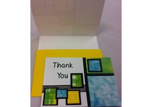 Thank You Cards - Color Squares - 10 pk