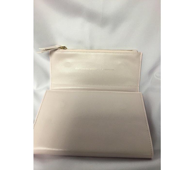 Clutch Journal - Fx Leather - Blush