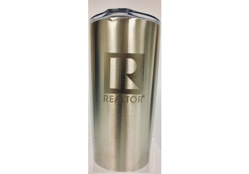 Realtor R Tumbler - Metal - 20 Oz - Silver
