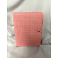 Padfolio - Pink Grid