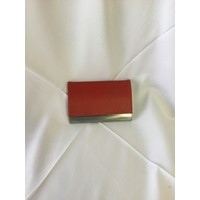 Business Card Holder - Chrome/Leather -