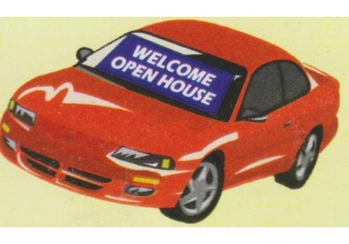 Banner - Windshield - Open House - Blue