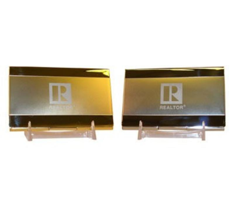 Realtor R Business Card Holder - Chrome