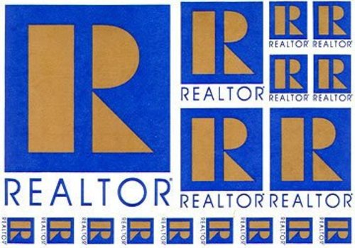 Realtor R Decal Sticker Sheet - Die Cut