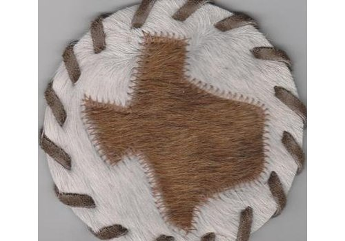 Coaster - Leather - Texas Map