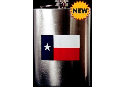 Flask - Texas Flag - Chrome