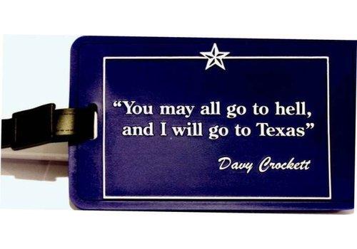 Luggage Tag - Davy Crockett
