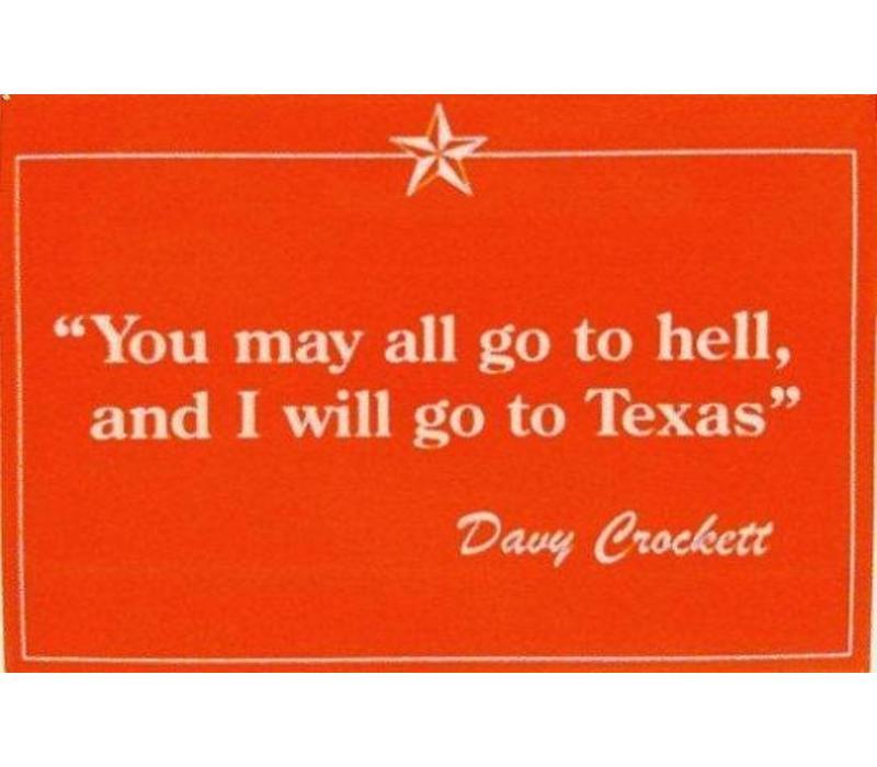 Magnet - Davy Crockett - Oange