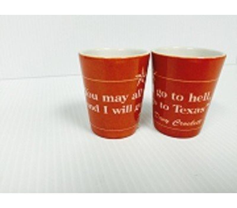 Shot Glass - Davy Crockett - Orange