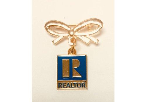 Realtor R Pin w/Bow - Gold