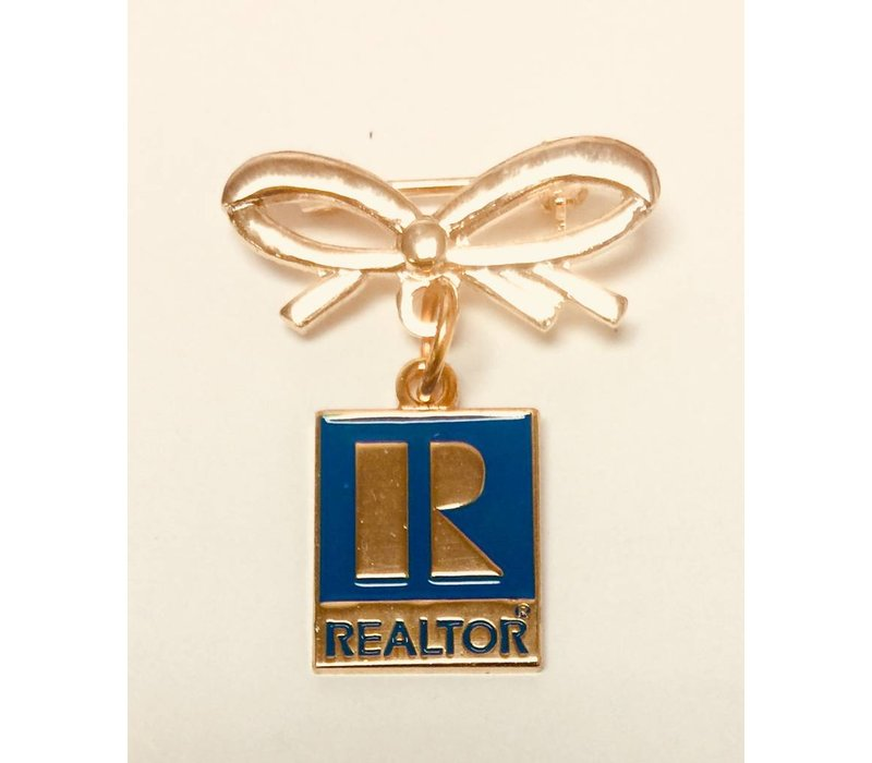 Realtor R Pin w/Bow - Gold