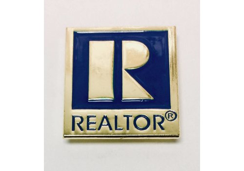 Realtor R Pin - Gold - Large
