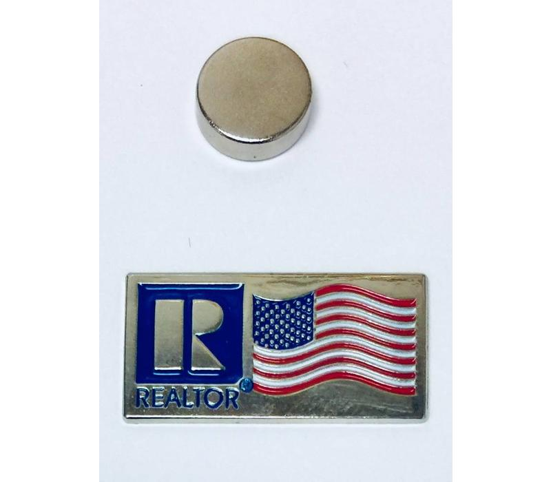 Realtor R Pin - Flag - Silver