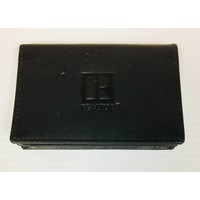 Realtor R Business Card Holder - Leather - Black