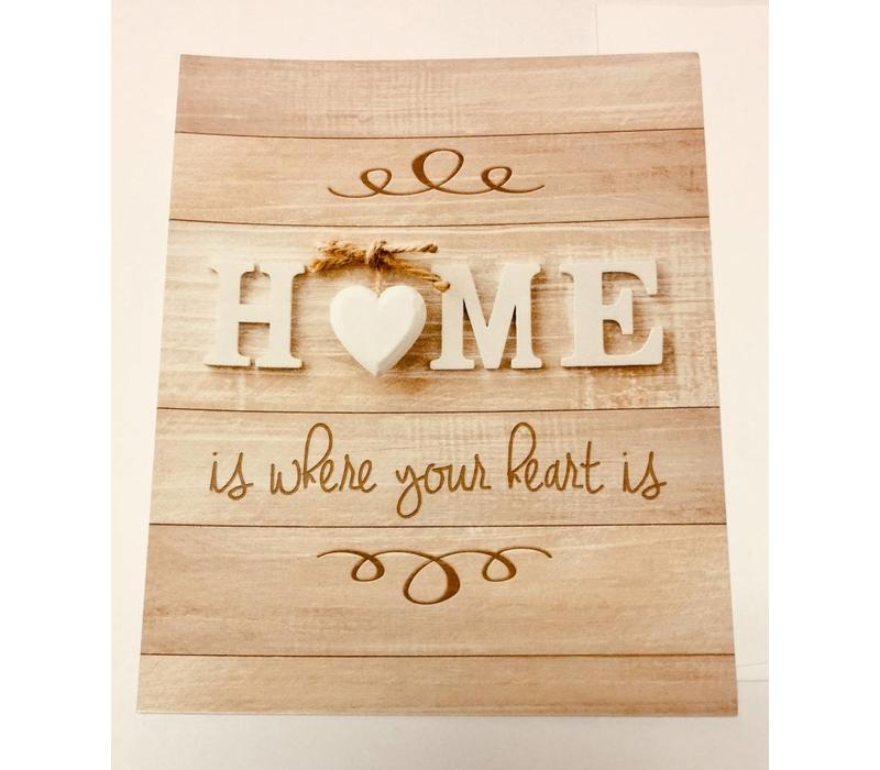 Note Cards - Home/Heart Is - 25 pk