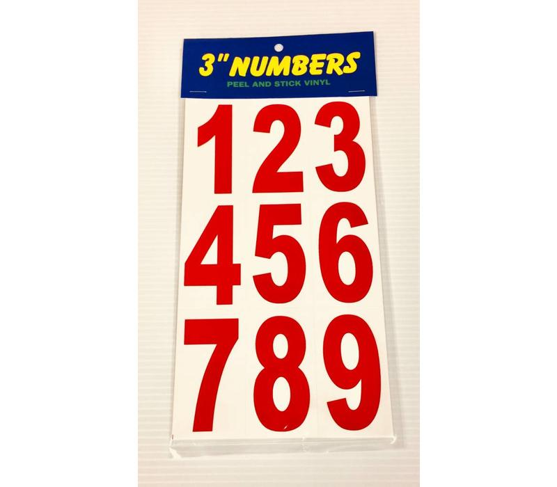 "Numbers -  3"" - Red"