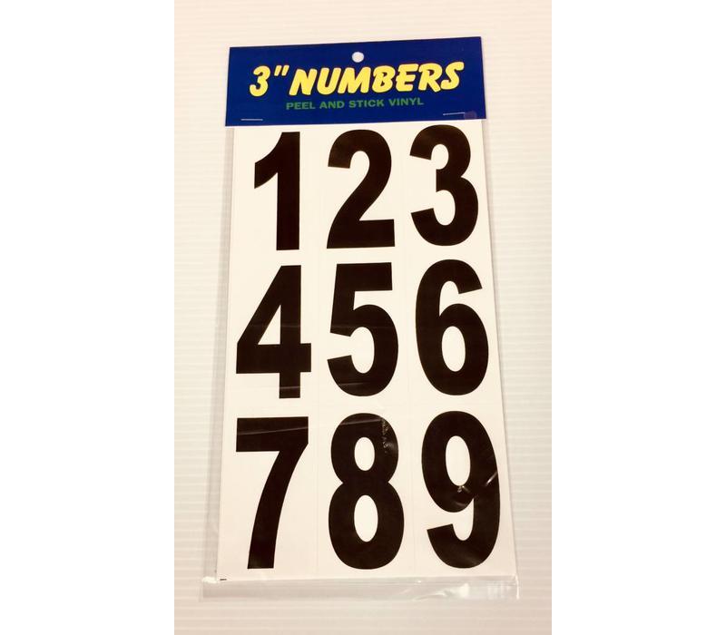 """Numbers - 3"""" - Black"""