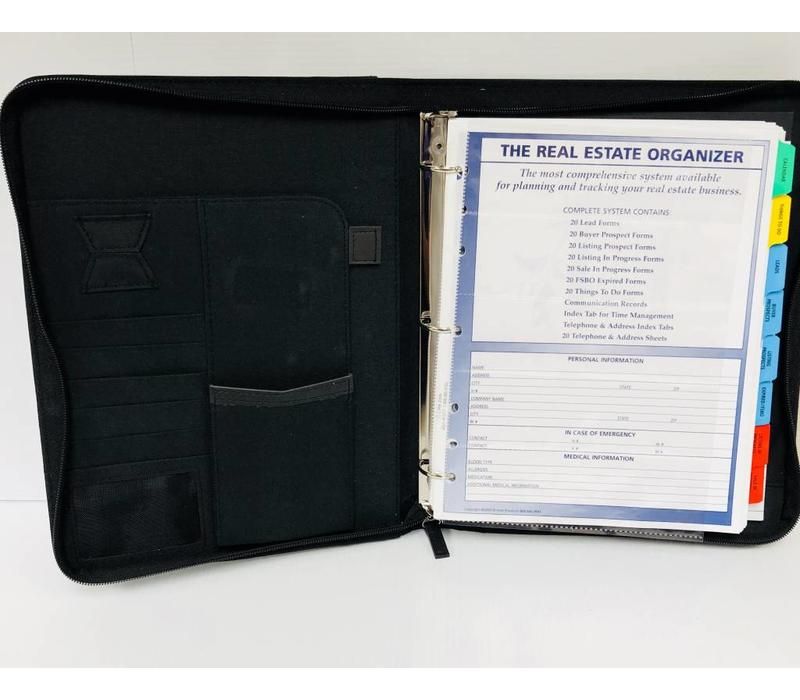 Planner - RE - Feaux Leather - Black - Lg