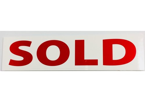 Sign Stickers - Sold - 10 pk