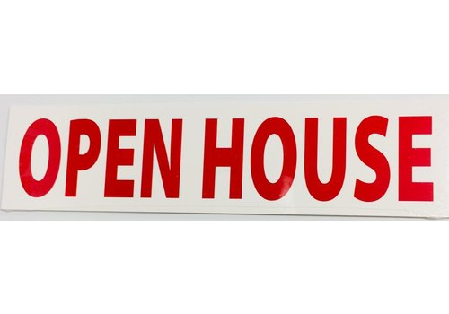 Sign Stickers - Open House - 10 pk