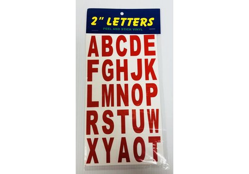 """Letters - 2"""" - Red"""