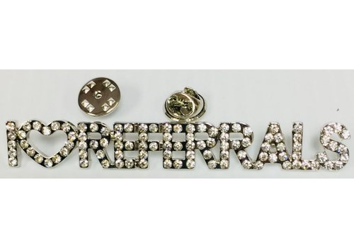 N/A Pin - Crystal - I Luv Referrals