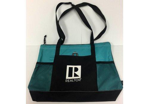 Realtor R Tote - Canvas - Teal