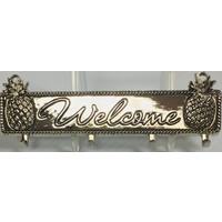 Spoon Rack - Welcome - Pineapple - Zinc