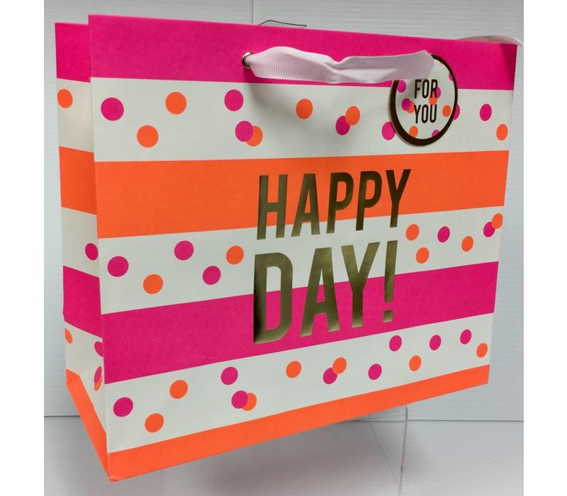 Gift Bag - Neon Stripes & Dots