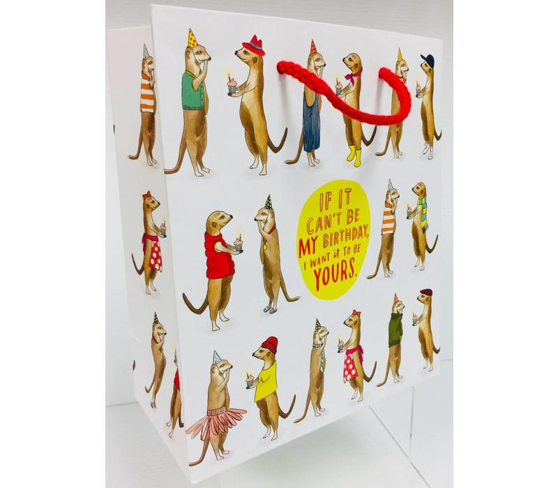Gift Bag - Meerkats - Can't Be My Bday