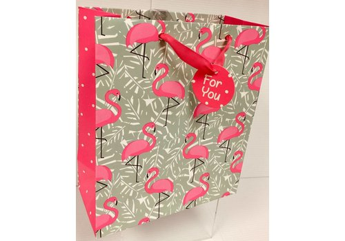 Gift Bag - Flamingo Leaves