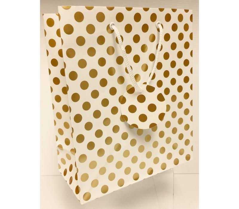 Gift Bag - Gold Dots