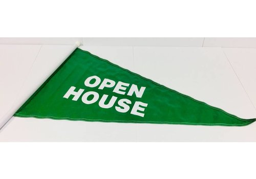 Flag - Open House - Green