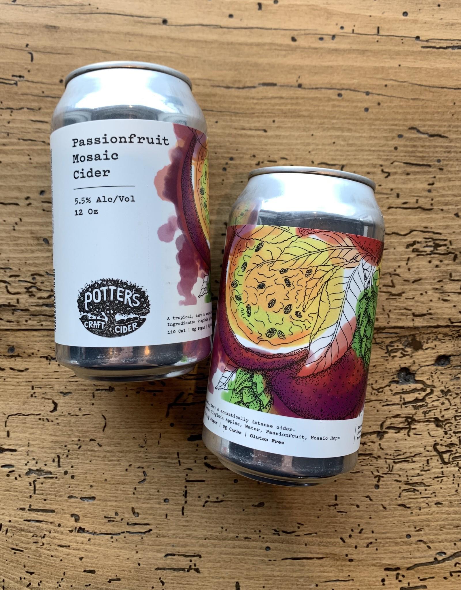 Potters Passionfruit Mosaic Cider 4pk
