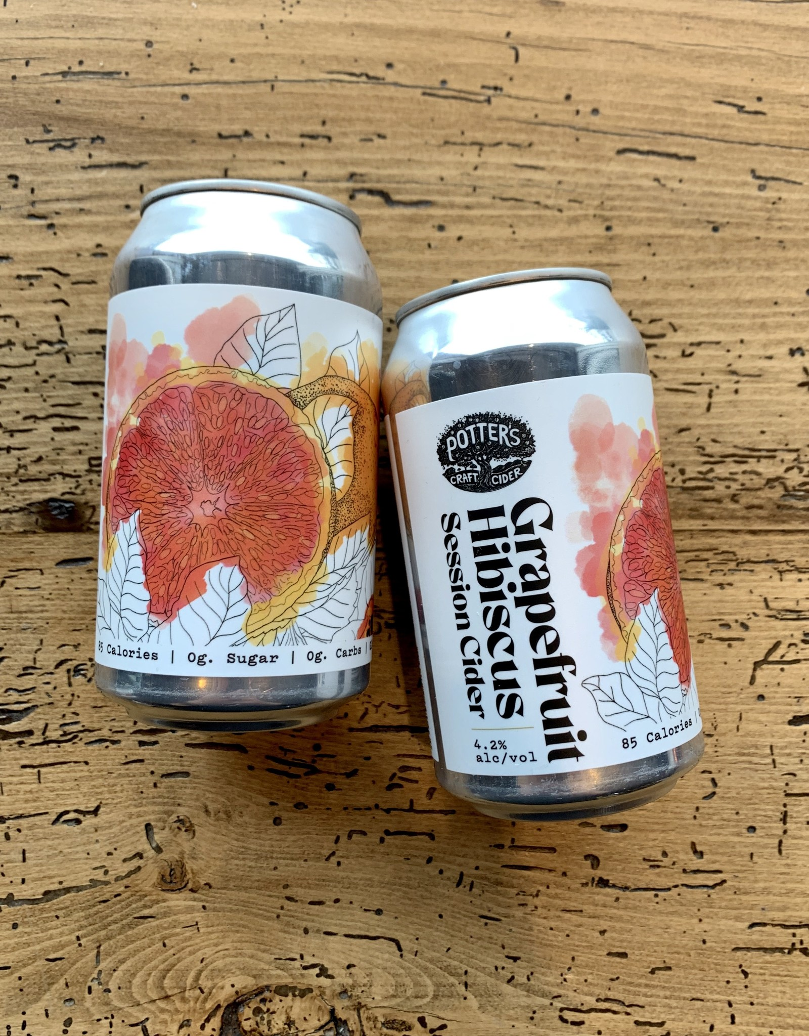 Potter's Grapefruit Hibiscus Cider 4pk