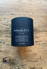 Pickwick & Co. Leather Tobacco & Woods Candle