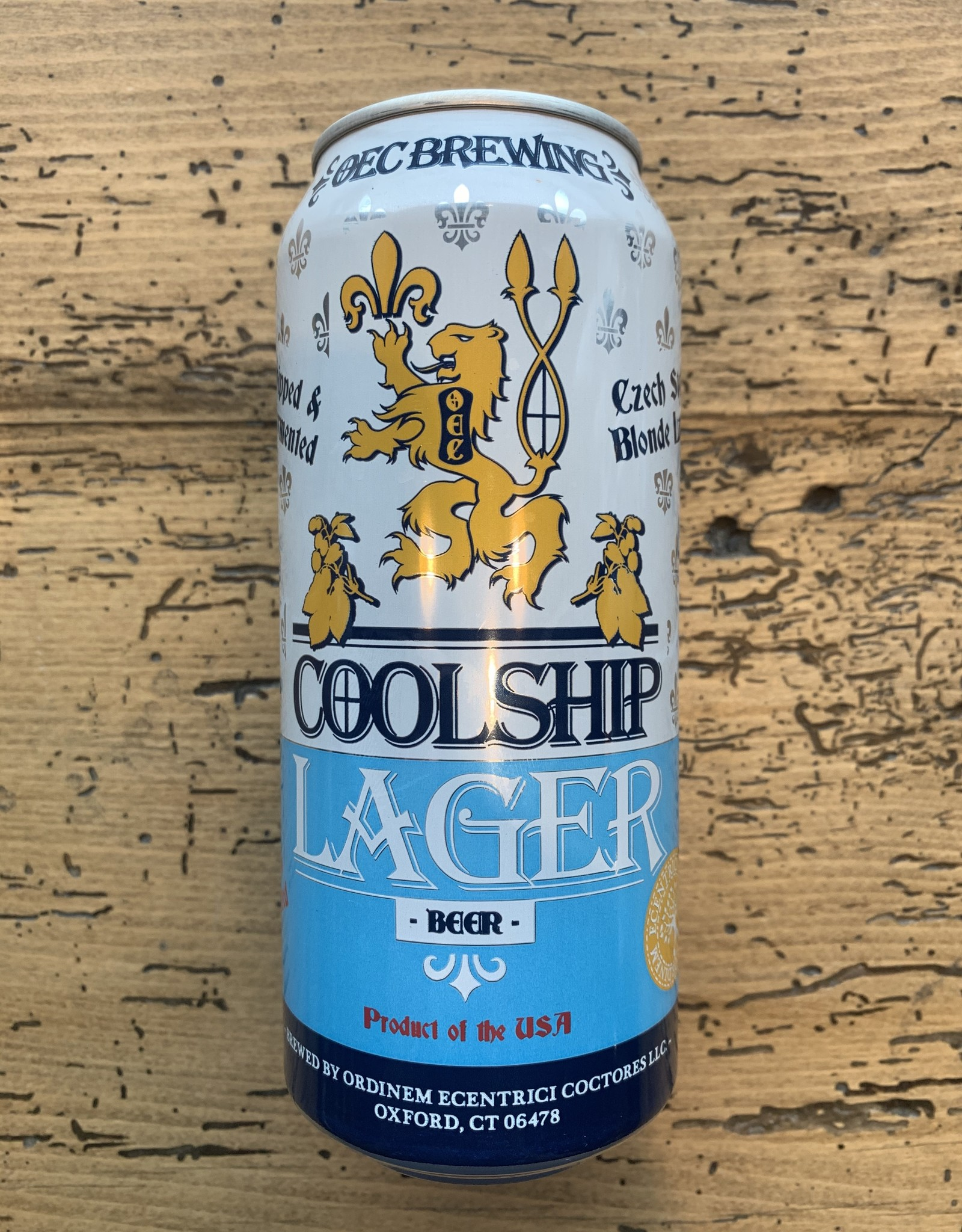 OEC Brewing Coolship Lager 4pk